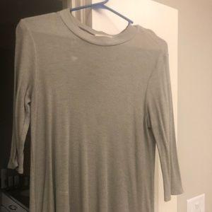 Modcloth Sage Green Mock Neck Shirt